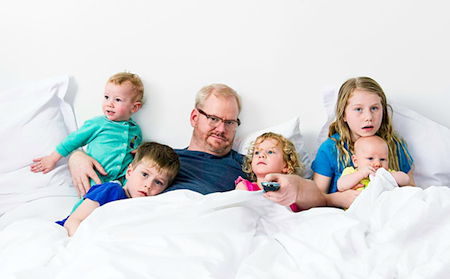Photo of Jim Gaffigan & his  Son  Patrick Gaffigan