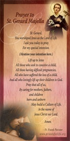 Great Pro Life Prayer To St Gerard Reflections Of A